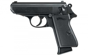WALTHER PPK/S 22LR 3.35inch 7rd Pistol, Black, fixed sights.